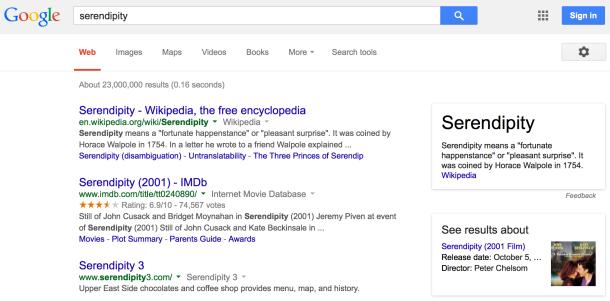 Suchergebnis für serendipity