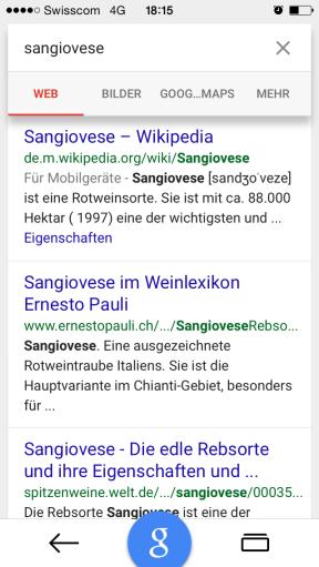"""Trefferliste für """"Sangiovese"""""""