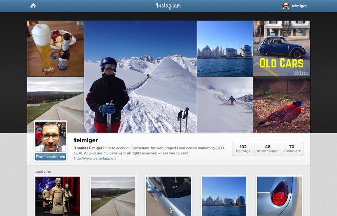 Screenshot: telmiger auf instagram