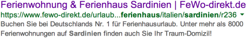 Suchergebnis: Ferienwohnung & Ferienhaus Sardinien von FeWo-direkt.de (Buchen Sie bei Deutschlands Nr. 1 ...
