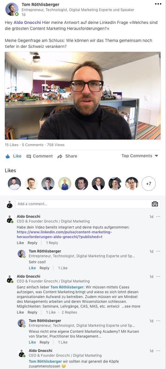 Herausforderunegn LinkedIn Aldo Gnocchi